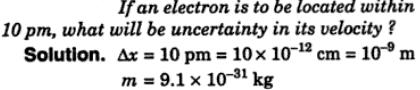 3 if an electron is located withon 10 pm