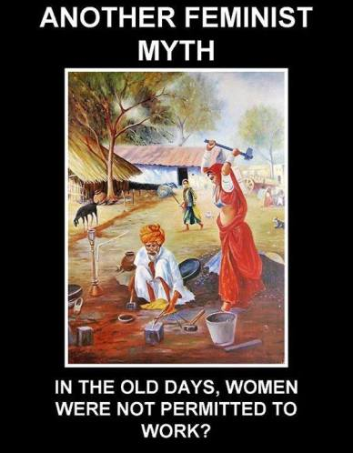 3 in old days women were allowed to work