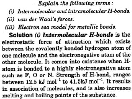 3 intermolecular intramolecular H bonds