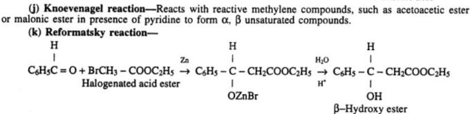 3 Knoevenagel Reformatsky reaction