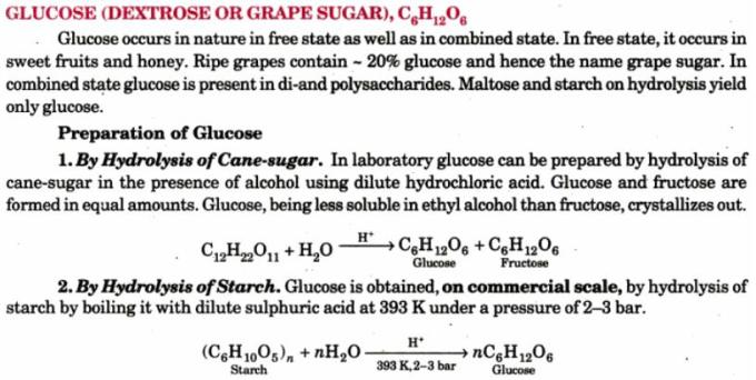 3 Preparations of Glucose