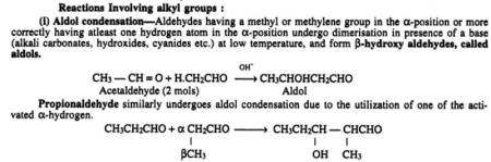 3 Reactions Involving alkyl groups