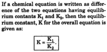 3 The Equilibrium constant K2 for backward reaction