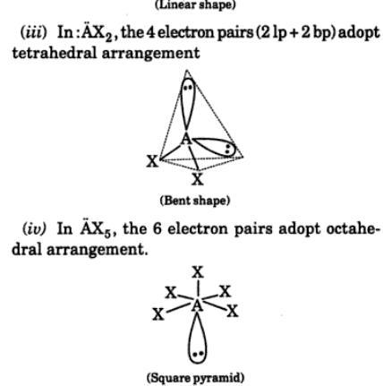 3 VSEPR postulates of theory