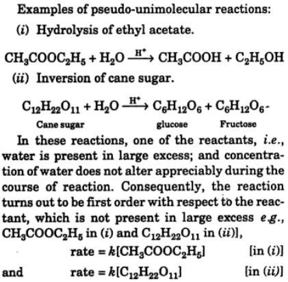 3 what is pseudo-unimolecular reaction