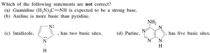 3 which are expected to be strong base basicity