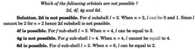 3 which of the following are possible and not possible
