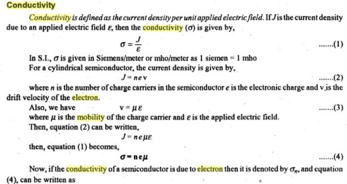 31a Conductivity mobility electron semiconductors