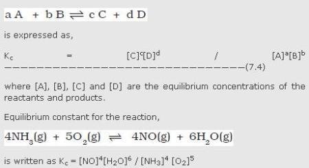 31a Equilibrium constant