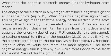 31f What does the negative electronic energy