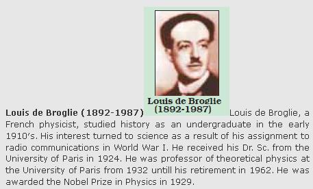 31h Louis de Broglie 1892 - 1987