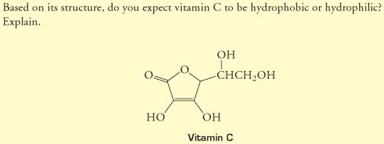 32b is vitamin C hydrophobic or hydrophilic