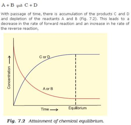 34a Fig 7.2 Attainment of chemical equilibrium