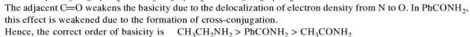 3a adjacent CO weakens the basicity