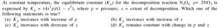 3a at constant temp the equilibrium const Kp