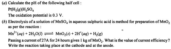 3a Calculate the pH of the half cell