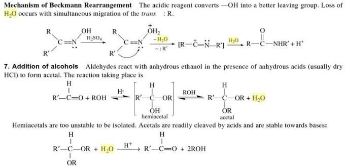 3k mechanism of Beckmann Rearrangement