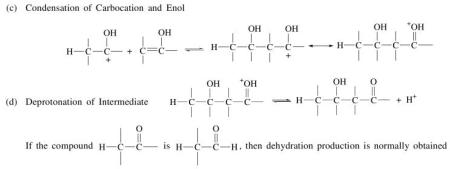 3p condensation of carbocation and Enol