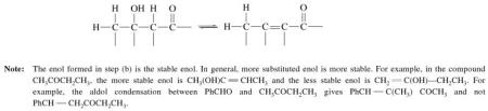 3q condensation of carbocation and Enol