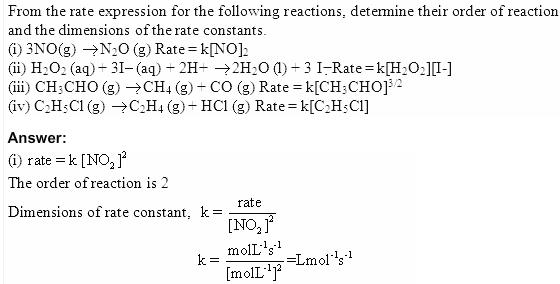 4.1a QA Chemical Kinetics CBSE Std 12