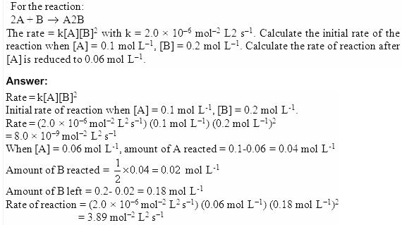 4.2 QA Chemical Kinetics CBSE Std 12