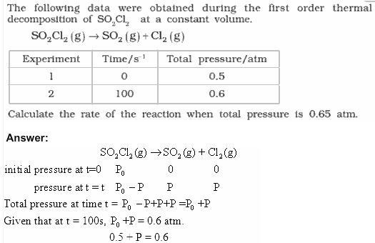 4.21a QA Chemical Kinetics CBSE Std 12