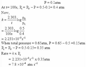 4.21b QA Chemical Kinetics CBSE Std 12