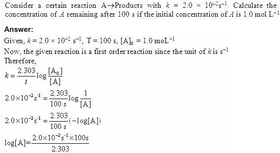 4.24 QA Chemical Kinetics CBSE Std 12