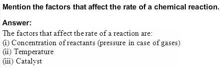 4.5 QA Chemical Kinetics CBSE Std 12