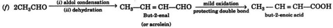 4 acetaldehyde to various compounds 2