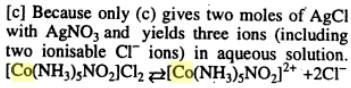 4 Co-ordination complex of Cobalt has molecular formula