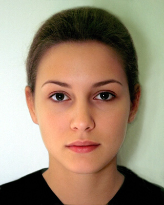 4 computer generated female face