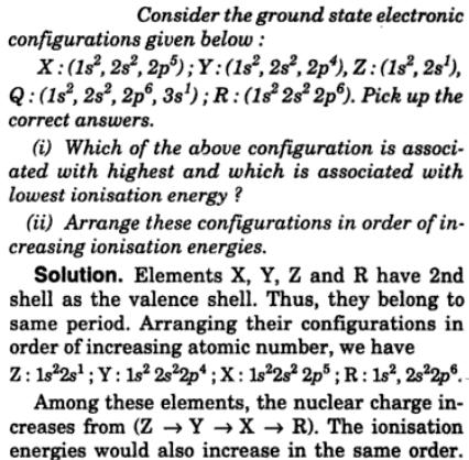 4 Consider the ground state electronic configuration