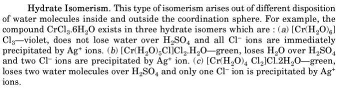 4 Hydrate Isomerism