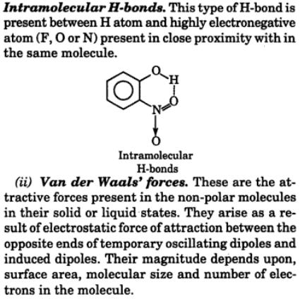 4 intermolecular intramolecular H bonds
