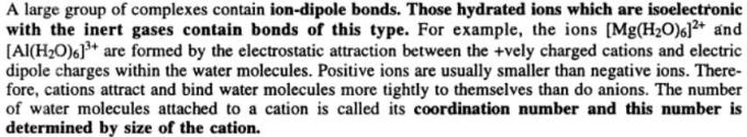 4 many complexes contain ion dipole bonds