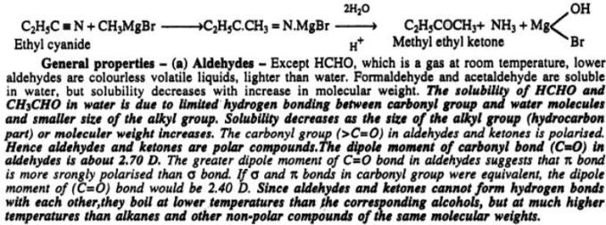 4 Preparing Aldehydes from Grignard reagents