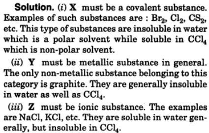 4 substances X, Y, Z gave observations