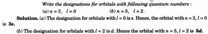 4 write numbers for the orbitals