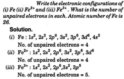 4 Write the electronic configurations of Fe