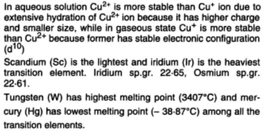 43a Cu2+ is more stable in hydrated form