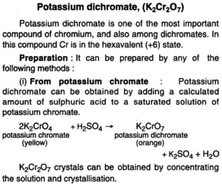 46a Potassium dichromate preparation