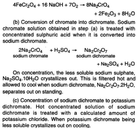 46c Potassium dichromate preparation