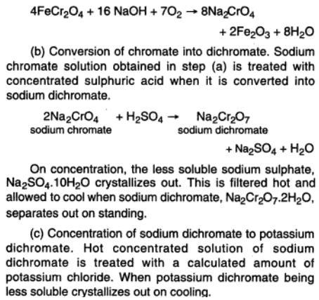 46c Potassium dichromate preparation
