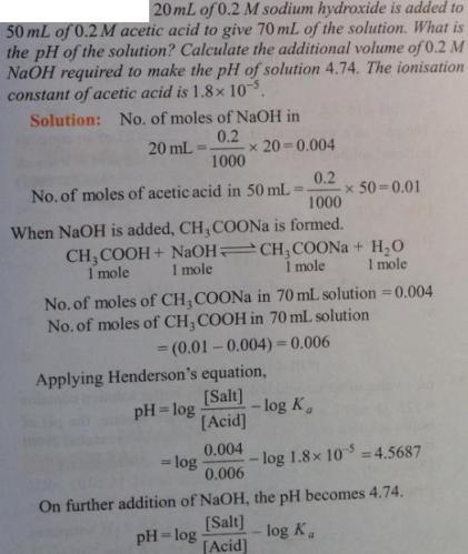 47 Ionic equilibrium dissociation constant
