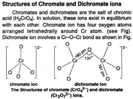48a structures of chromate ions