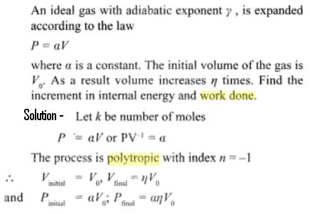 4a gas expanded as P = const X Vol law