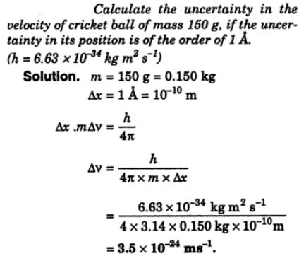 5 Calculate the uncertainty in velocity