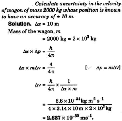 5 Calculate uncertainty in the velocity of wagon