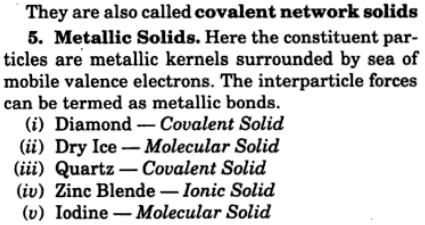 5 categorize the crystalline solids